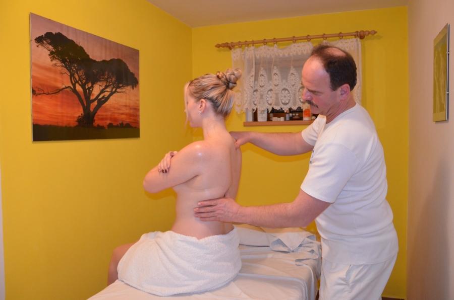 koupel před masáží